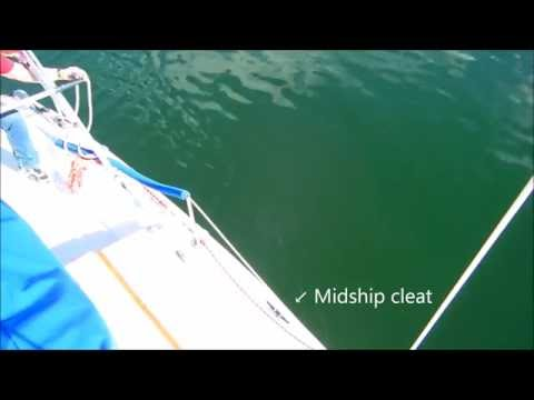 Docking with a Midship Cleat and Spring Line