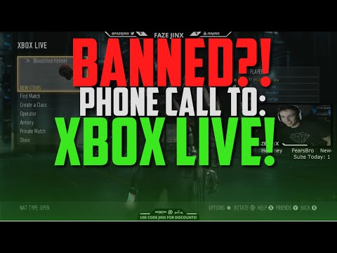 BANNED?! XBOX LIVE PHONE CALL!