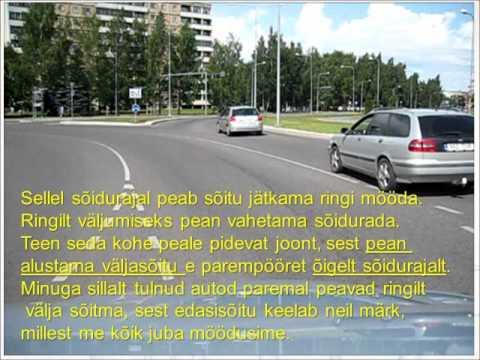 Kuidas sõita Tartus Anne ringil tulles sillalt Pikale tänavale.wmv