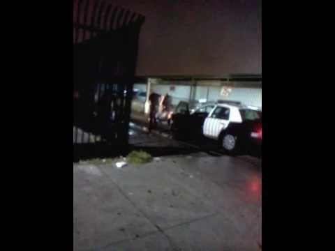 **Original Footage** Man killed in van nuys california by an LAPD officer