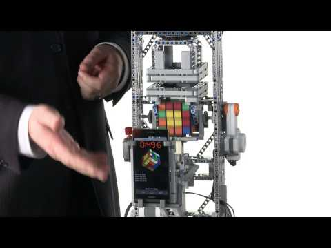 Watch the Huawei Ascend P6 solve a Rubik's Cube with the help of Legos