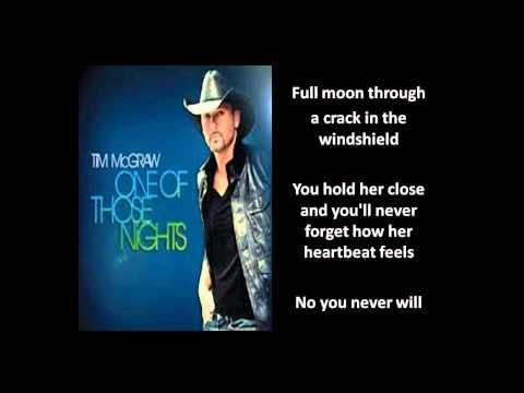 [Lyrics On Screen] One of Those Nights Lyrics - Tim McGraw [Tim McGraw One Of Those Nights]