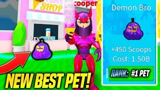 *NEW* MAX LEVEL BEST PET IN ICE CREAM SIMULATOR UPDATE IS SO OVERPOWERED!! (Roblox)