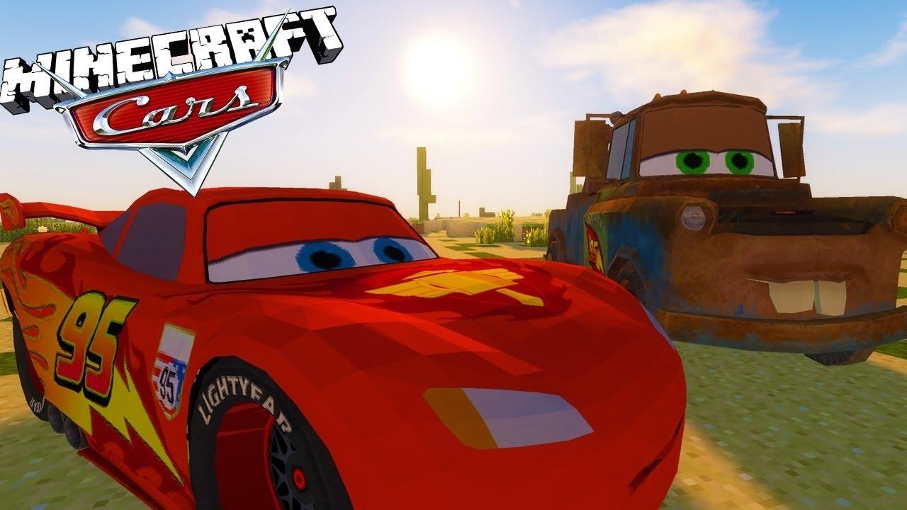 Minecraft Cars 3 Mod Lightning Mcqueen Breaks Down Custom Mod Adventure Youtube