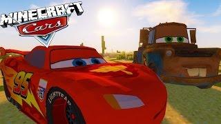 Minecraft Cars 3 Mod - LIGHTNING MCQUEEN BREAKS DOWN (Custom Mod adventure)