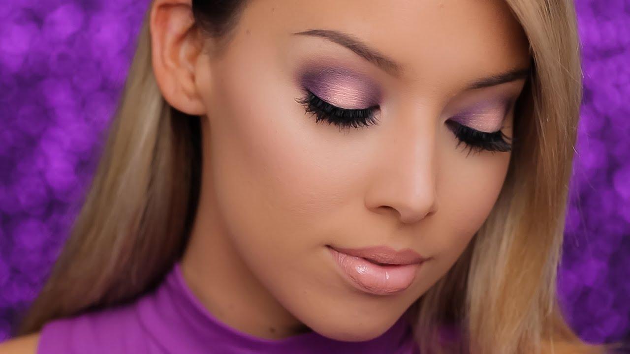 Purple Halo Smokey Eye Nyx Highlightcontour Kit Youtube