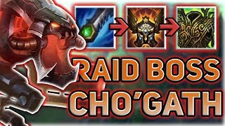 RAID BOSS CHO'GATH IS THE MOST BROKEN JUNGLER?! THIS IS SO STUPID! Patch 7.14 Best Junglers