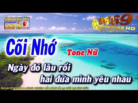 Karaoke Cõi Nhớ   Tone Nữ   Nhạc sống LA STUDIO   Karaoke 9669