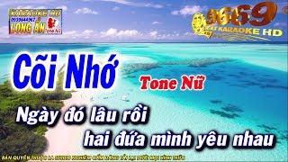 Karaoke Cõi Nhớ | Tone Nữ | Nhạc sống LA STUDIO | Karaoke 9669