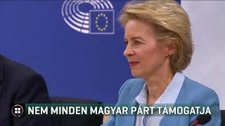 Nem minden magyar párt támogatja Ursula von der Leyent 19-07-16