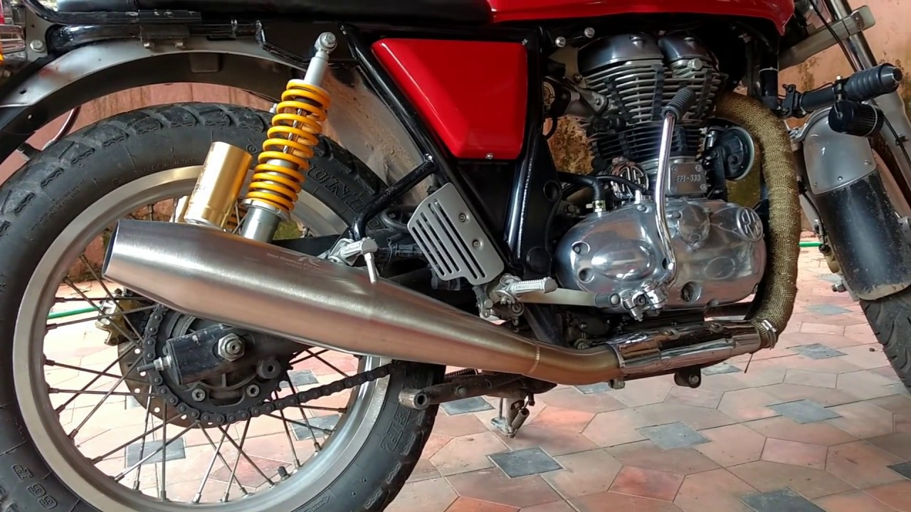 Red Rooster Performance Vs Stock Exhaust Royal Enfield Continental
