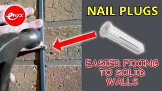 Easier cable fixing to solid walls using NAIL PLUGS - ELECTRICIAN tips & tricks #shorts