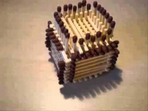домик из спичек схема сборки
