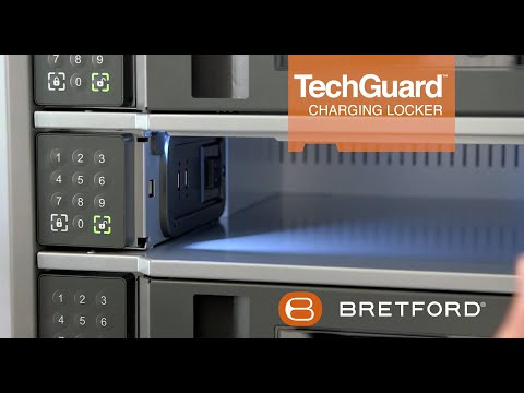 Bretford -  TechGuard Connect Charging Locker | charge, store, secure, manage.