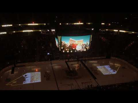 Vegas Golden Knights Home Opener Pre-Game Ceremonies #VegasStrong (Part 3)