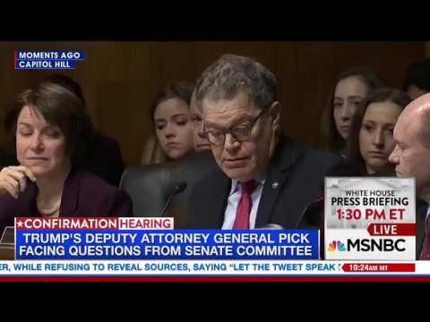 Al Franken DESTROYS Jeff Sessions LIES