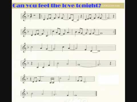 can you feel the love tonight flute pdf