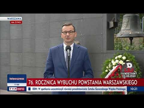 Premier RP Mateusz Morawiecki w Muzeum Powstania Warszawskiego