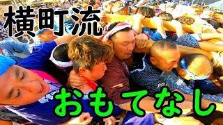 30年   羽田神社(羽田祭り)横町町会神輿 横町流立派なパフォマンス。
