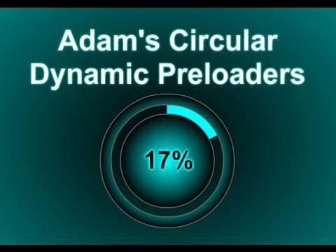 Circular Dynamic Preloader Tutorial - Flash CS4 CS5.5 ActionScript 3.0 Website Content Loader