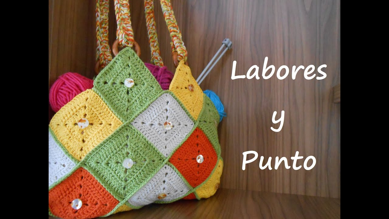 Como hacer este bolso patchwork a ganchillo o crochet parte 2 de 2 youtube - Bolsos tejidos a ganchillo ...