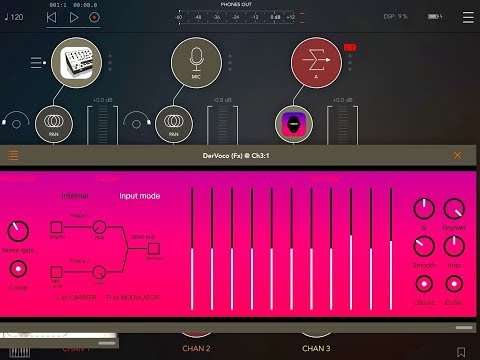 DerVoco AUv3 VOCODER by BeepStreet - Tutorial for the iPad