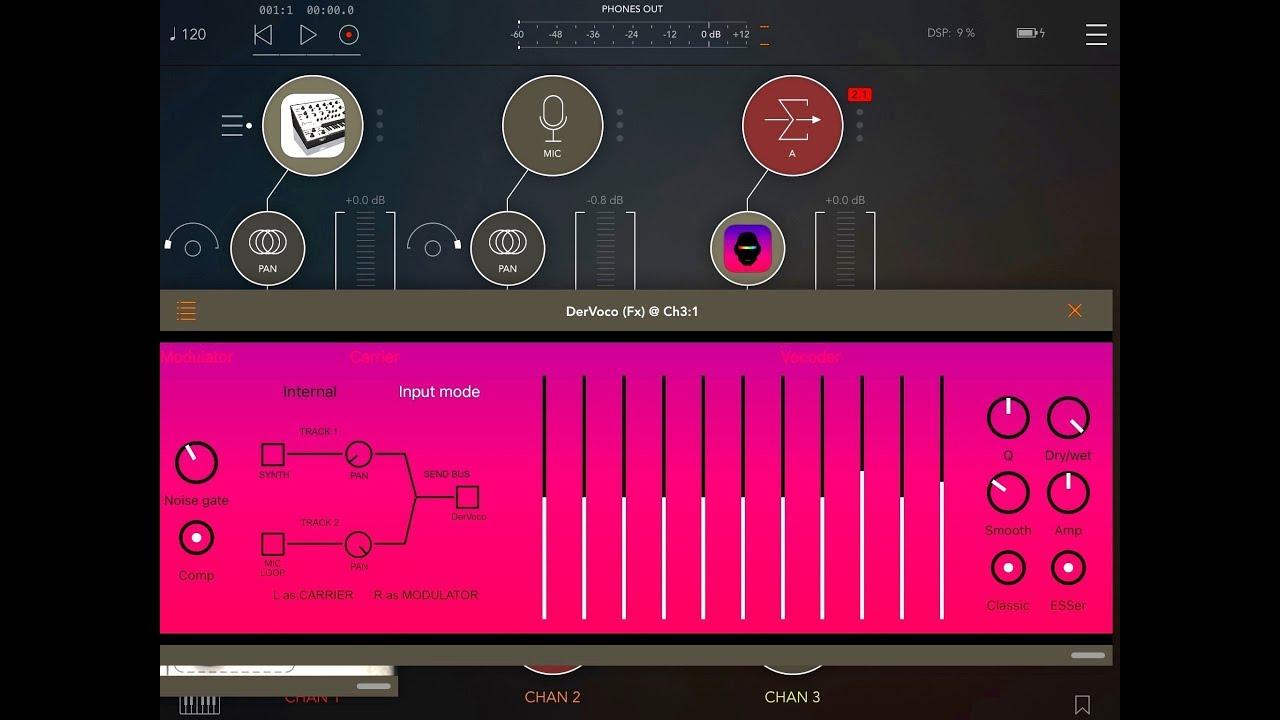 BeepStreet Intros DerVoco 'Vintage Vocoder' For iOS | Synthtopia