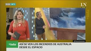 Así se ven los incendios de Australia desde el espacio