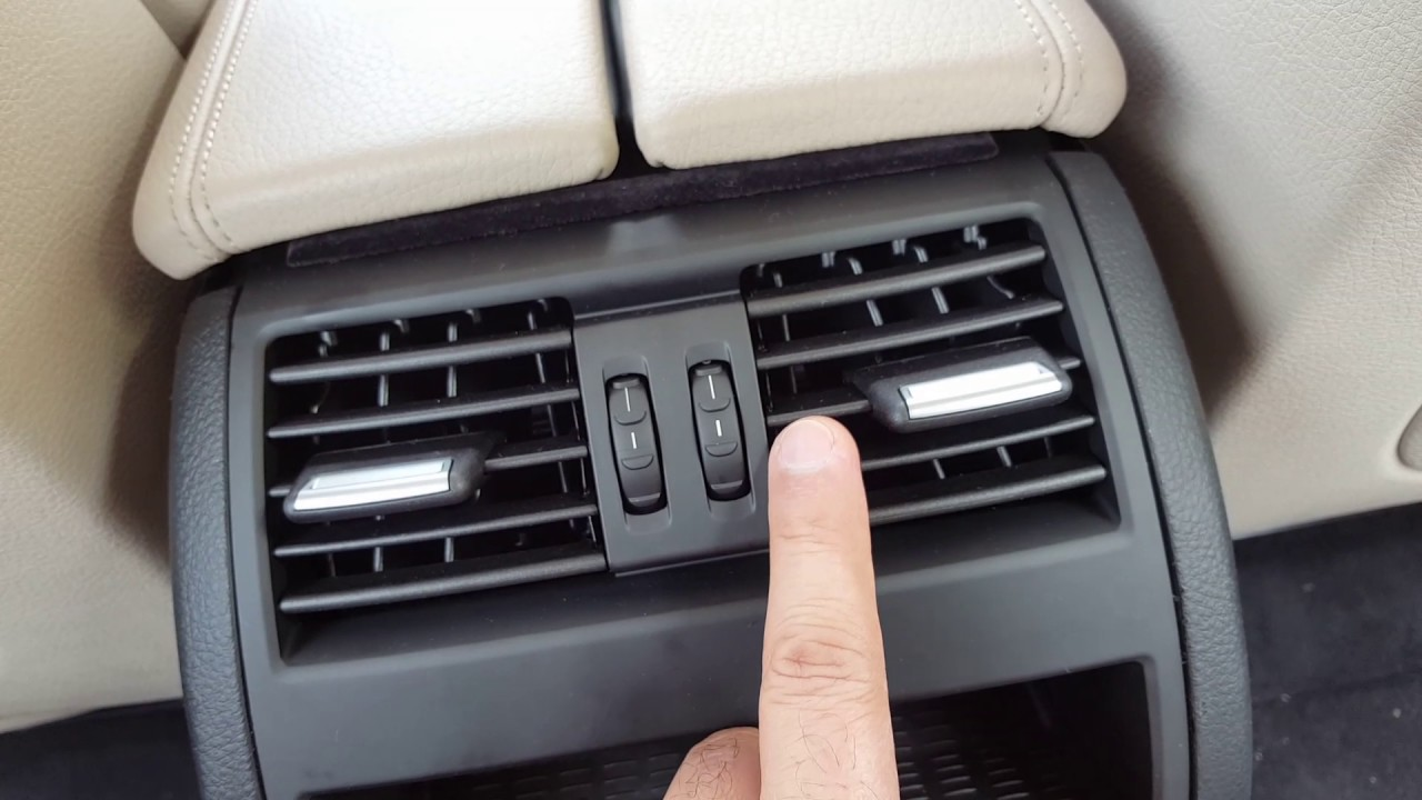 bmw 5 series f10 f11 rear air vent ac outlet [ 1280 x 720 Pixel ]