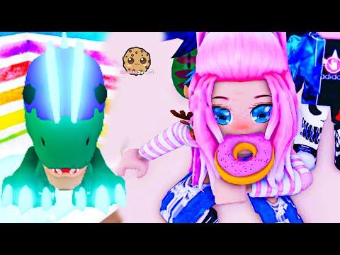 Random Adopt Me  Making Neon Dino Pet - Cookie Swirl C Roblox