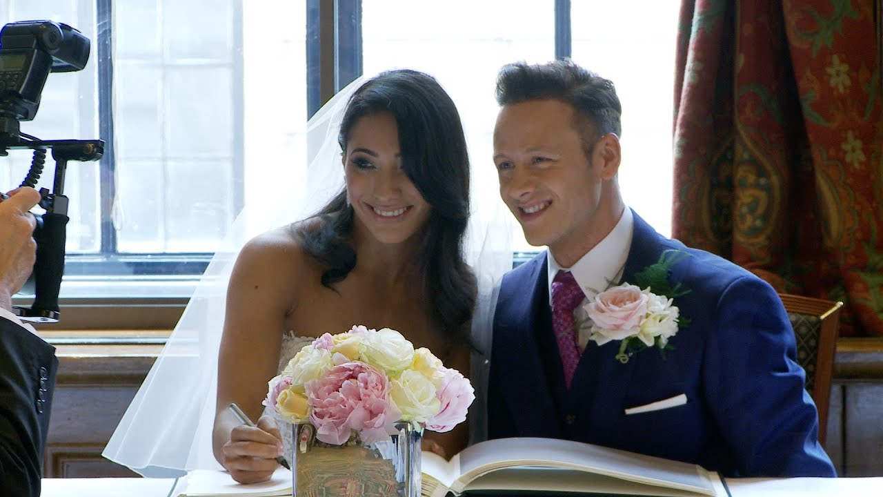 Karen Clifton and Kevin Clifton on their wedding day in July 2015