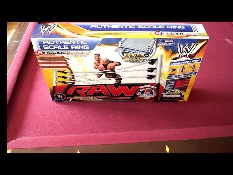WWE Authentic Scale Ring Ringside Collectibles Exclusive Unboxing, Construction & Review!!