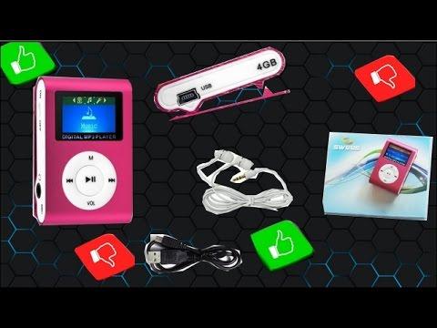 Déballage d'un MINI LECTEUR MP3 rose