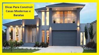 Dicas Para Construir Casas Modernas e Baratas - Eng Carlos
