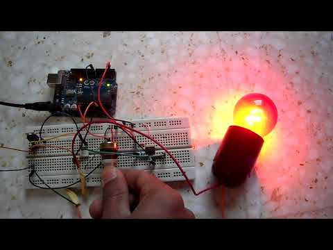 220V Light dimmer with Arduino - Lamp brightness control