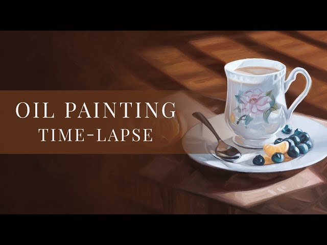 Afternoon Tea » Oil Painting Time-lapse by Tianna Williams