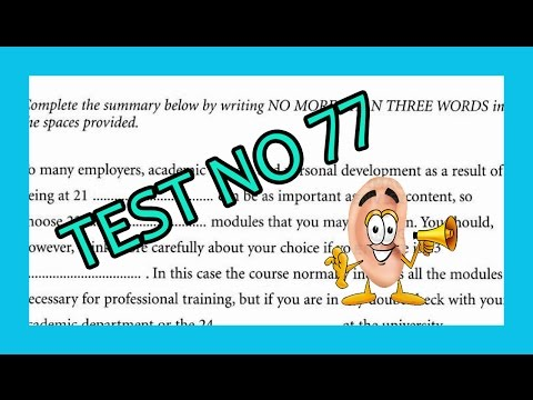 Ielts Listening Test From Real Exam 77 With Key 2016