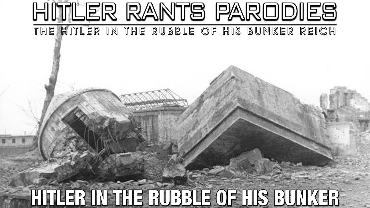 Hitler in the rubble of his bunker