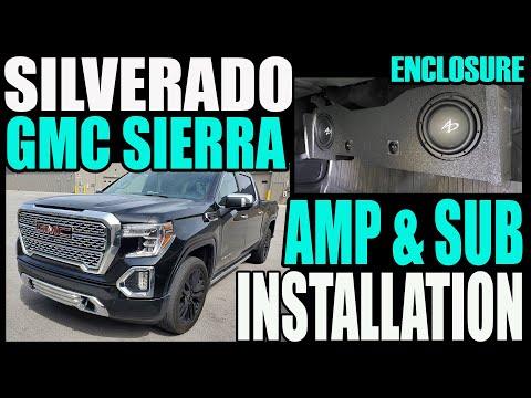 2019 -2021 CHEVY SILVERADO / GMC SIERRA AMP AND SUB INSTALL