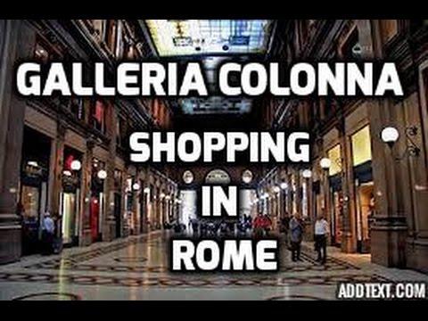 Galleria Colonna or Galleria Alberto Sordi - SHOPPING in ROME