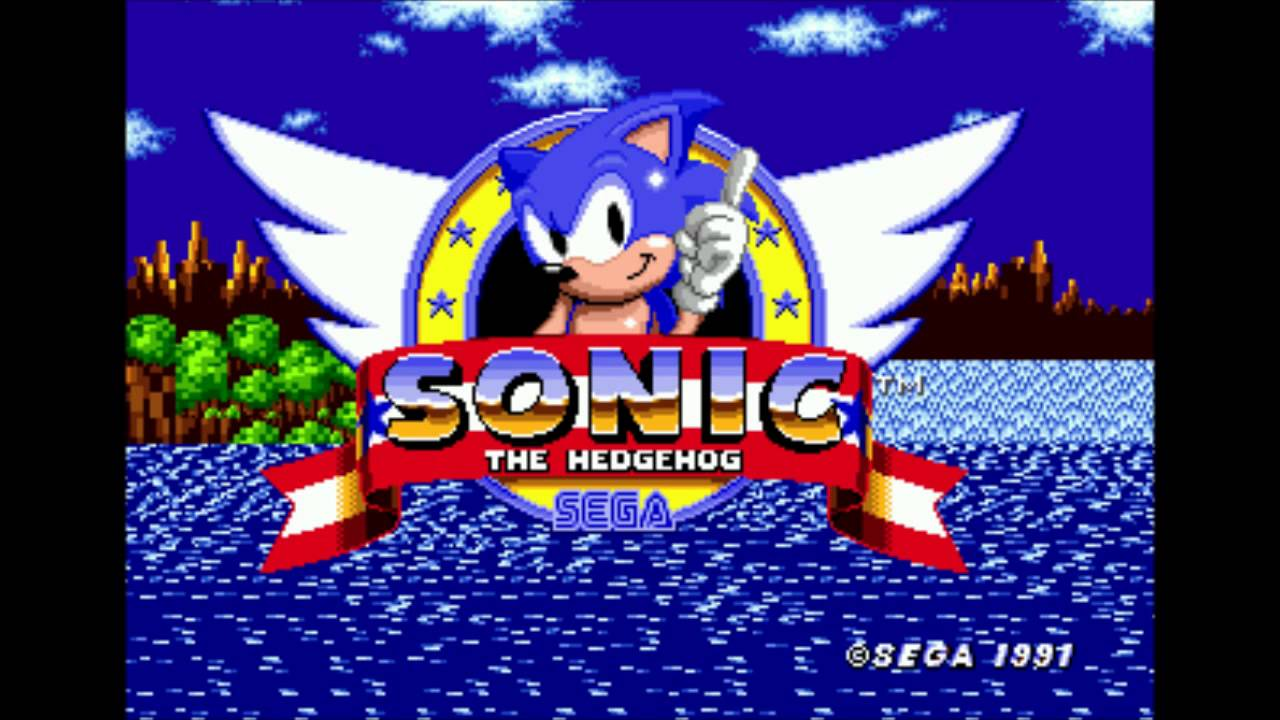 The Title Screen From The Original Sonic The Hedgehog Due To A Glitch Is Not Centered It Is 8 Pixels Too Far To The Left Mildlyinfuriating