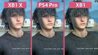 Final Fantasy XV – Xbox One X vs. PS4 Pro vs. Xbox One High Mode Graphics Comparison