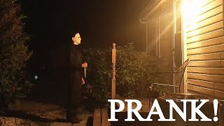 Michael Myers PRANK ON GRANDMA!!