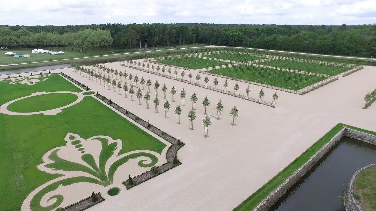 Ch teau de chambord la renaissance des jardins la for Jardin a la francaise chambord