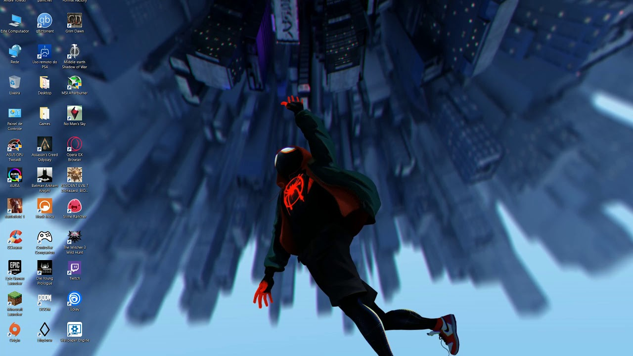 Spider Man Into The Spider Verse Desktop Animated Wallpaper