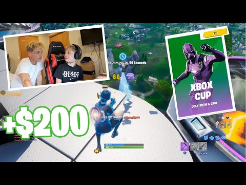 13 Year Old Brother Takes Controller And WINS Fortnite Xbox Cup!