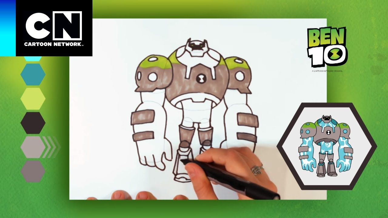 Dibujos Rapidos Shock Rock Ben 10 Cartoon Network Youtube