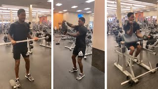 Buffalo Bills Wide Receiver Stefon Diggs Friday Arm Day At Gym