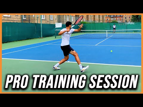 Tennis Professional Hitting Session | Tennis Court Level | Former ATP Pro | Rallies and Point Play