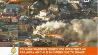 Tokyo Japan 8.8 earthquake in Japan 3/11/11, live footage-video of Japan earthquake-tsunami